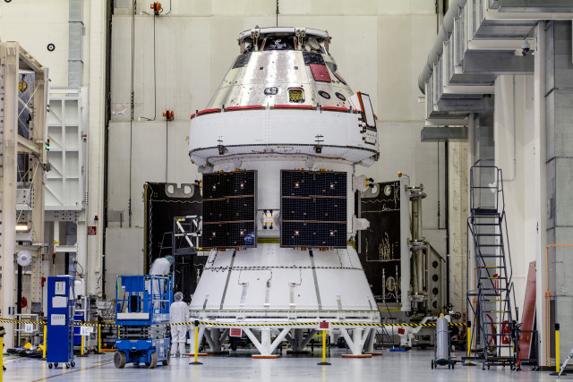 Orion's Recently Installed Solar Array Wings