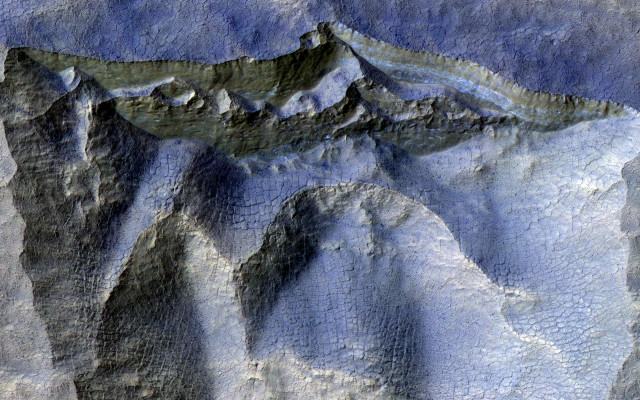 Cliffs in Ancient Ice on Mars